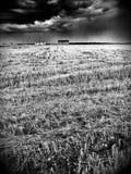 村庄 在黑白的艺术性的神色 图库摄影