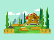 村庄建筑 免版税图库摄影