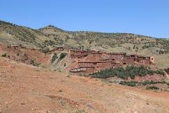 村庄Asni在摩洛哥 免版税图库摄影