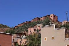 村庄Asni,国家公园图卜卡勒峰在摩洛哥 免版税库存照片