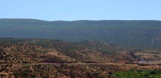 村庄Asni,国家公园图卜卡勒峰在摩洛哥 库存图片