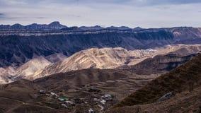 村庄Chukna,达吉斯坦共和国 免版税库存照片