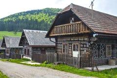 村庄Cicmany -斯洛伐克 免版税库存图片
