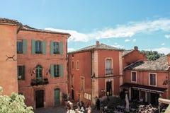 村庄de鲁西永、普罗旺斯和Luberon 免版税库存照片