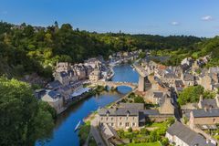 村庄Dinan在布里坦尼-法国 免版税库存图片