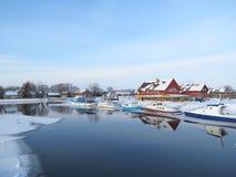 村庄Minge,立陶宛 免版税库存图片
