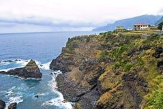 村庄Seixal,马德拉岛海岛,葡萄牙 免版税图库摄影