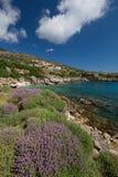 村庄Skala在Kefalonia,希腊 免版税图库摄影
