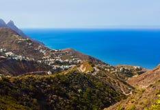 村庄Taganana在特内里费岛海岛-黄雀色西班牙 免版税库存照片