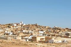 村庄Tamezret在突尼斯 库存照片