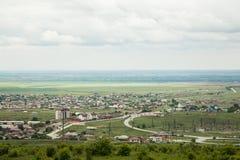 村庄Tolstoy-Yurt在夏天 库存照片