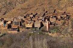 村庄Toubkal国家公园 库存图片