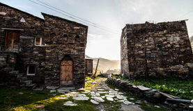 村庄Ushguli乔治亚 库存照片