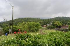 村庄yangmingshan (yangming的山),台北 库存照片