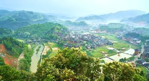 洞村,广西,中国 库存图片