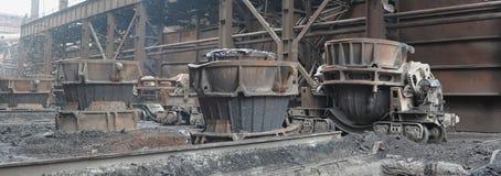 杓子平台铁路炉渣 免版税库存照片