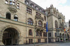 杜伊斯堡市政厅在德国 免版税图库摄影