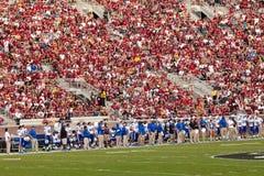 杜克大学足球运动员 免版税库存图片