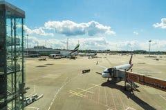 杜塞尔多夫机场在杜塞尔多夫,德国 库存图片