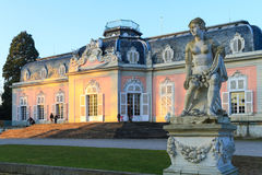 杜塞尔多夫,北莱茵-威斯特伐利亚州,德国- 2017年1月22日 城堡Benrath 库存图片