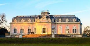 杜塞尔多夫,北莱茵-威斯特伐利亚州,德国- 2017年1月22日 城堡Benrath 免版税库存照片