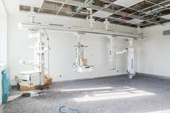 杜塞尔多夫,德国- 2017年9月04日:加护病房的建筑进步 免版税库存照片