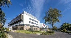 杜塞尔多夫,德国- 2017年9月04日:将完成弗罗伦斯・南丁格尔医院的新的大厦  免版税库存照片