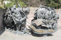 杜塞尔多夫津贴特权的纪念碑  免版税库存照片