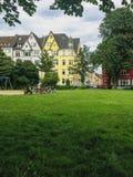 杜塞尔多夫 从Frankenplatz公园的看法 库存照片