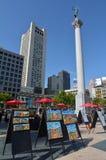 杜威纪念碑在旧金山联合广场加州 库存图片