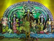 杜尔加Pandal Dakshin巴拉瑟德南24 Parganas孟加拉印度 免版税库存照片