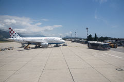杜布罗夫尼克国际机场克罗地亚 库存照片
