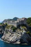 杜布罗夫尼克堡垒在克罗地亚 免版税库存图片