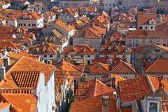 杜布罗夫尼克屋顶 免版税库存照片
