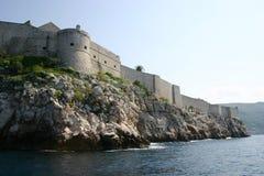 杜布罗夫尼克市堡垒 免版税库存照片