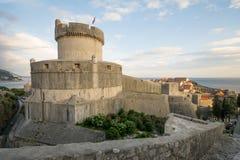 杜布罗夫尼克市堡垒minceta 免版税库存照片