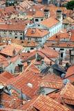 杜布罗夫尼克市屋顶 库存图片