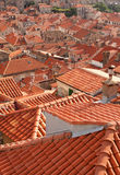 杜布罗夫尼克市屋顶 库存照片