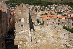 杜布罗夫尼克市废墟 免版税库存照片