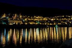杜布罗夫尼克市晚上 免版税库存图片