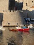 杜布罗夫尼克市港口 免版税库存照片