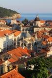 杜布罗夫尼克市老城镇 旅行欧洲 Viajar Croacia 免版税库存图片