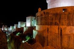 杜布罗夫尼克市,克罗地亚城市墙壁  免版税库存照片