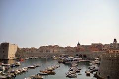 杜布罗夫尼克的港口看法  库存图片
