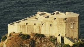杜布罗夫尼克老镇墙壁-堡垒圣劳伦斯 影视素材