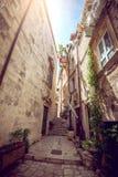 杜布罗夫尼克街道生活,克罗地亚 库存照片