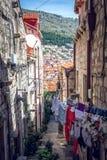 杜布罗夫尼克街道生活,克罗地亚 免版税库存照片