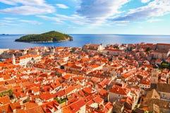 杜布罗夫尼克,克罗地亚美好的全景  免版税库存照片