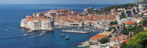 杜布罗夫尼克,克罗地亚,中世纪城市的全景 库存图片