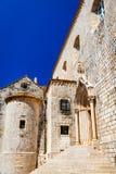 杜布罗夫尼克,克罗地亚-多米尼加共和国的修道院 免版税库存图片